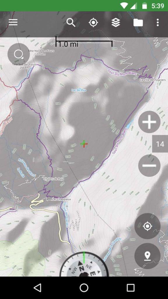Tour du Mont Blanc map