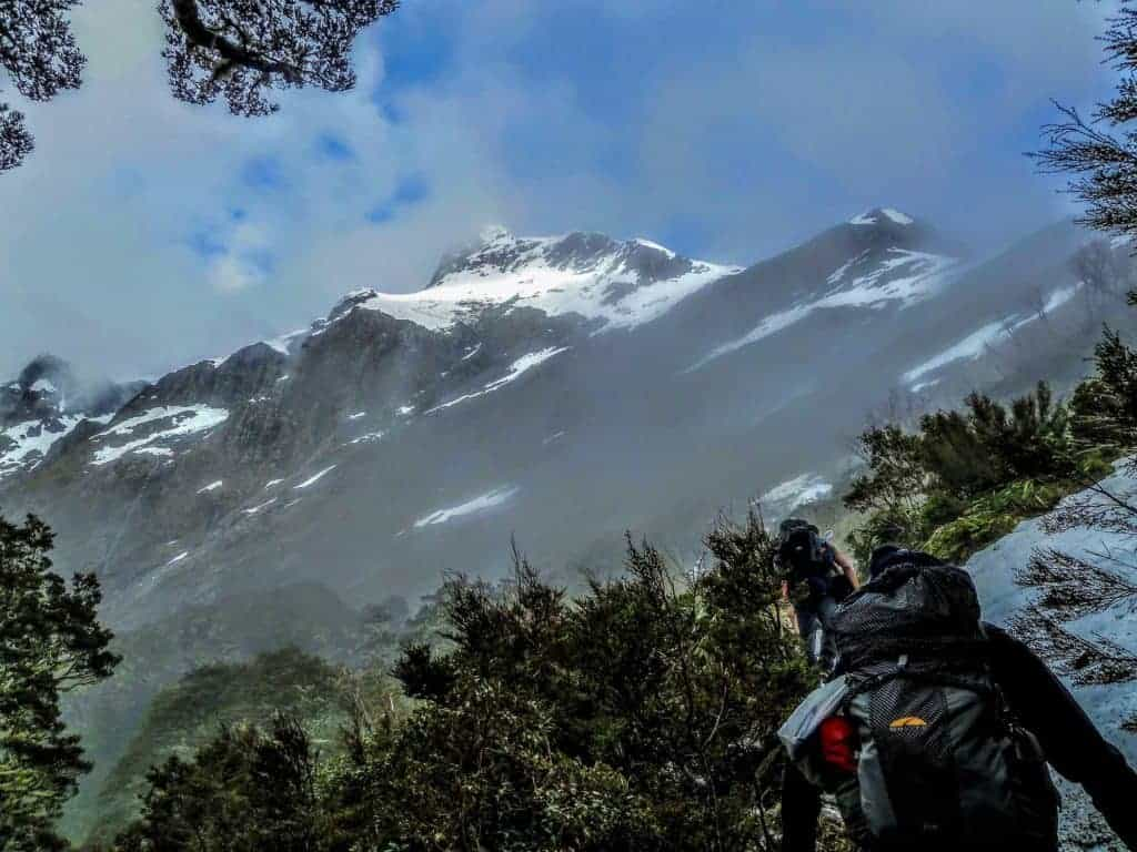 Climbing McKinnon Pass