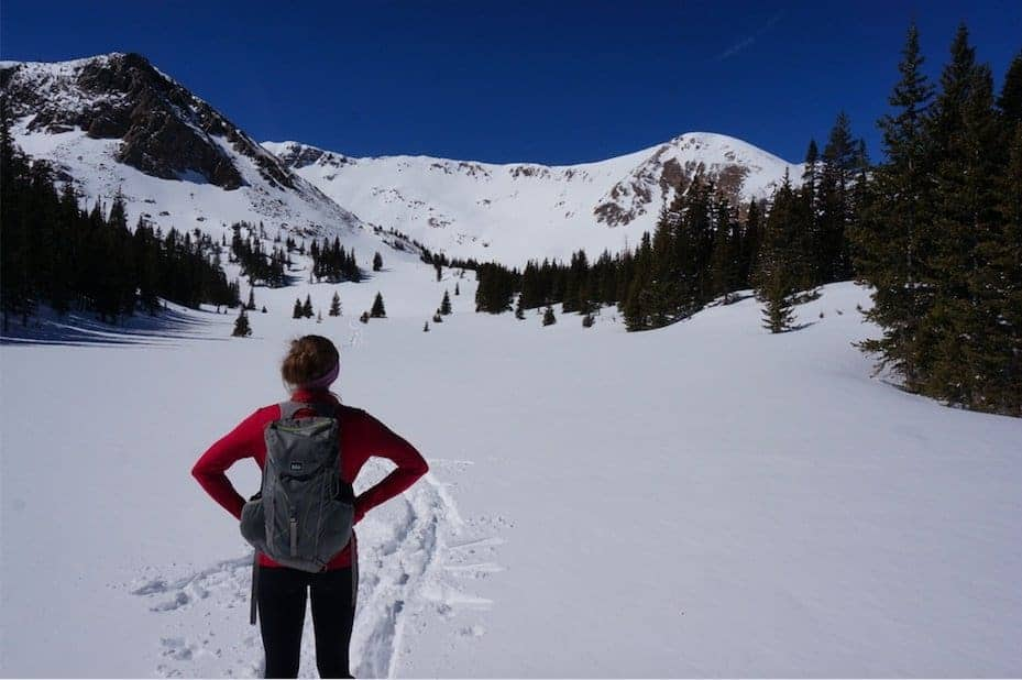 Heart Lake snowshoeing